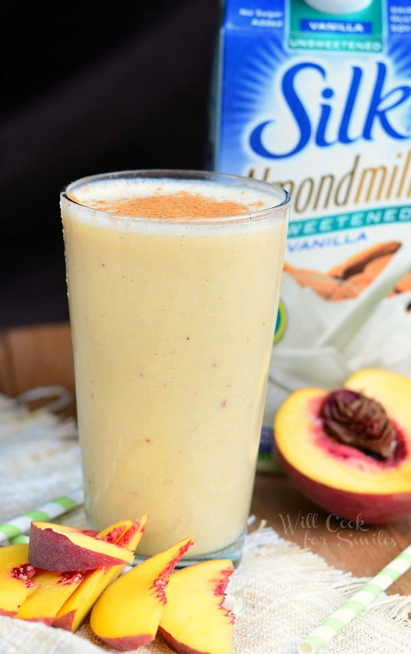 Peaches and Cream Breakfast Smoothie from willcookforsmiles.com