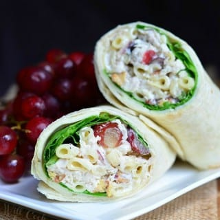Chicken Deluxe Salad and Chicken Salad Wrap