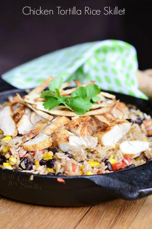 Chicken Tortilla Rice Skillet 1 from willcookforsmiles.com