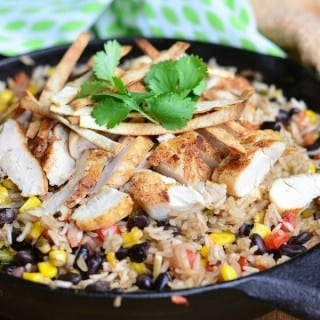Chicken Tortilla Rice Skillet
