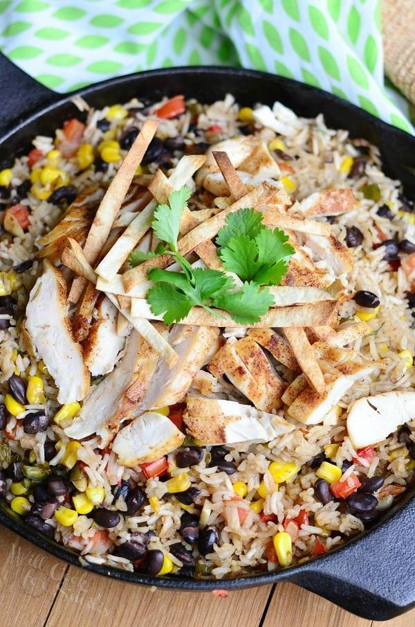 Chicken Tortilla Rice Skillet 3 from willcookforsmiles.com