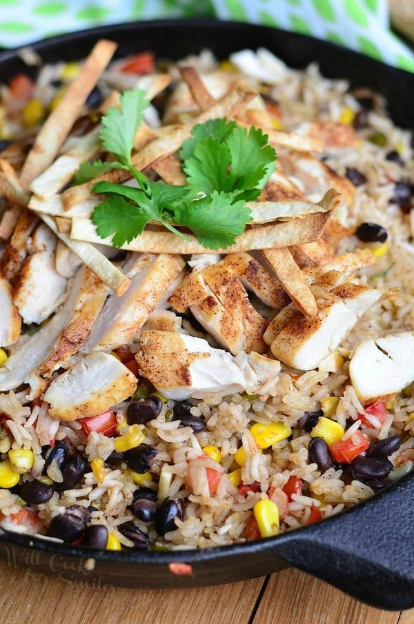 Chicken Tortilla Rice Skillet 4 from willcookforsmiles.com