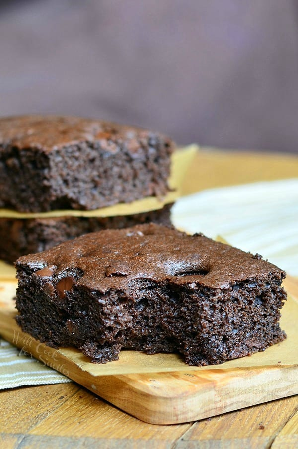 Dark Chocolate Chocolate Chip Brownies 2 from willcookforsmiles.com