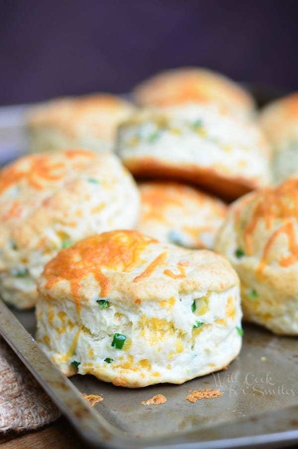 Jalapeño Cheddar Buttermilk Biscuits 3 from willcookforsmiles.com