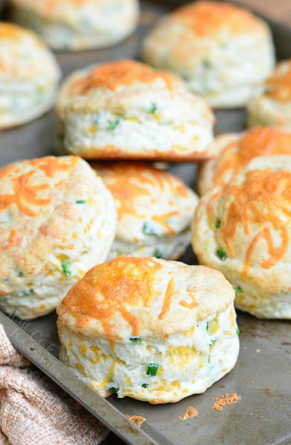 Jalapeno Cheddar Buttermilk Biscuits 1 from willcookforsmiles.com