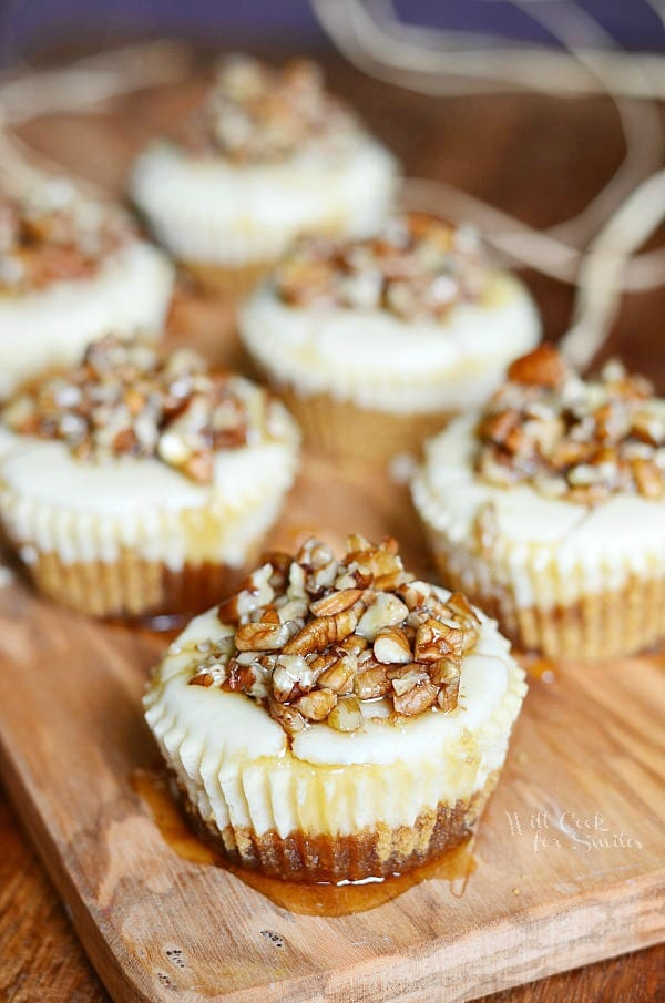 Maple Pecan Mini Cheesecakes - Will Cook For Smiles