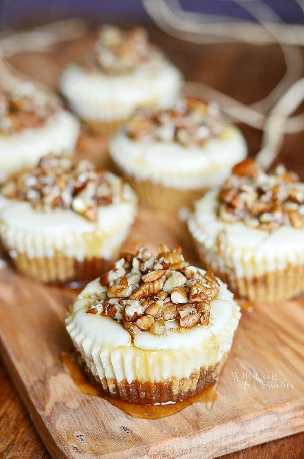Maple Pecan Mini Cheesecakes 1 from willcookforsmiles.com