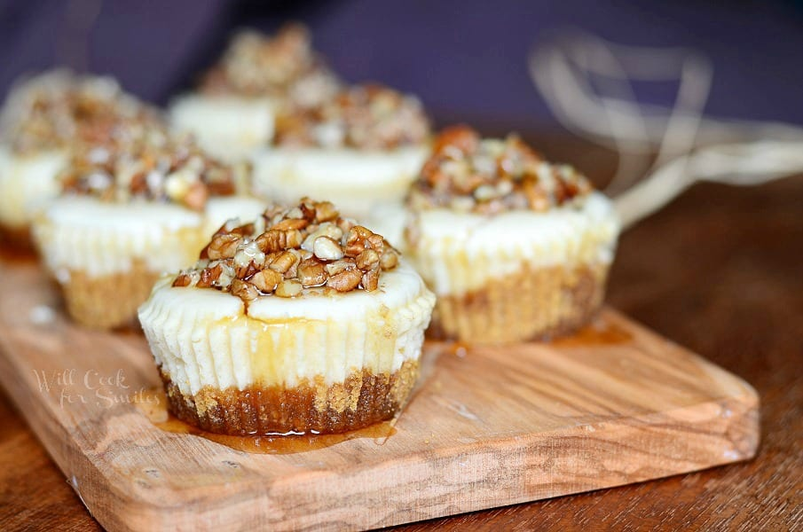 Maple Pecan Mini Cheesecakes 2 from willcookforsmiles.com