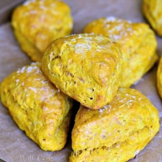Savory Three Cheese Cream Cheese Pumpkin Scones Recipe