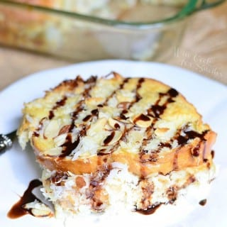 Almond Joy Overnight French Toast Bake