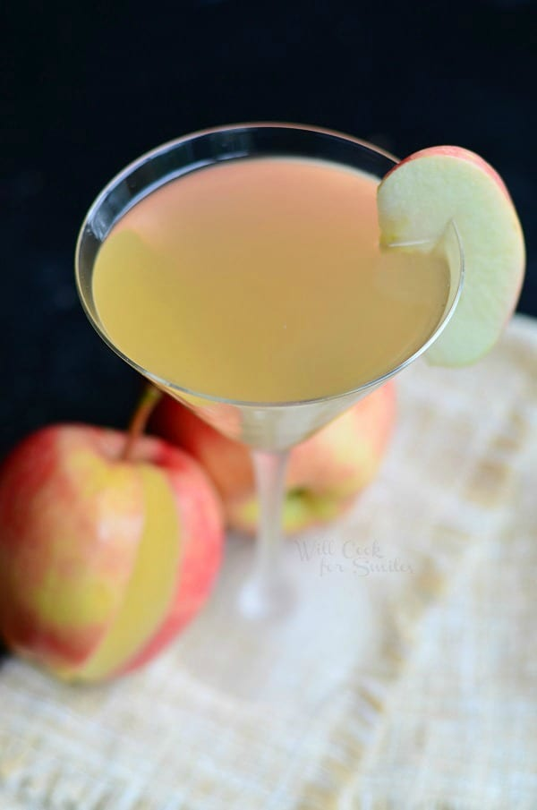 Apple Cider Martini is a wonderful seasonal cocktail that is light and crisp in flavor. It's made with apple flavored vodka, cinnamon liqueur and homemade apple cider.