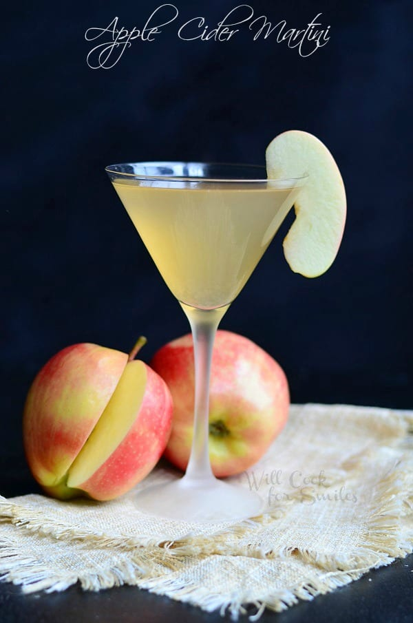 Apple Cider Martini from willcookforsmiles.com