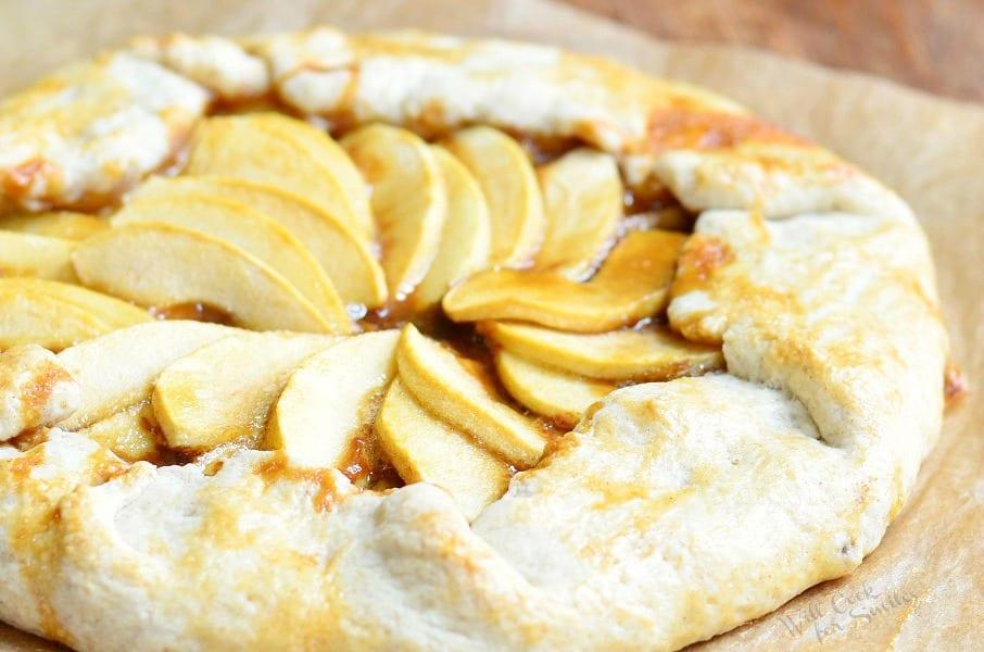 Caramel Apple Galette 2 from willcookforsmiles.com