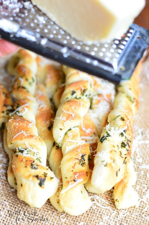 Homemade Parmesan Garlic & Herb Breadsticks