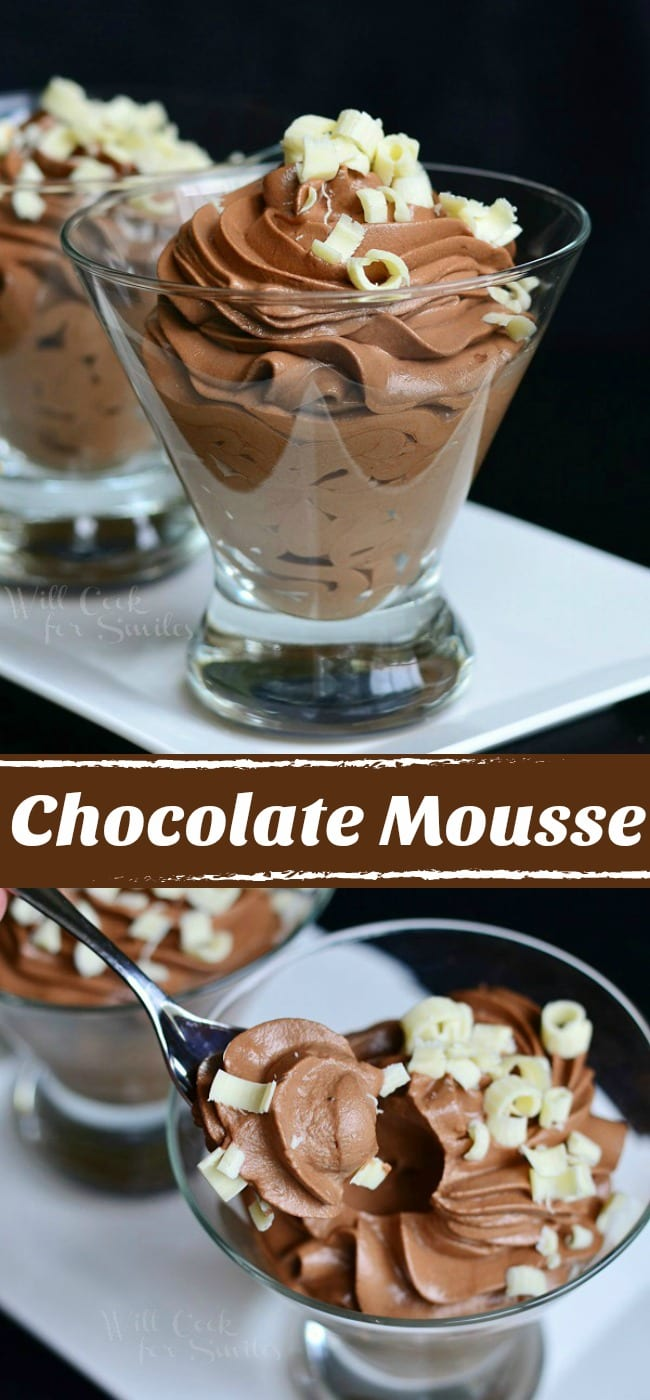 Chocolate Mousse! Made from scratch. Delicate yet rich dessert that goes perfectly for any celebration. #chocolate #mousse #dessert #chocolatedessert
