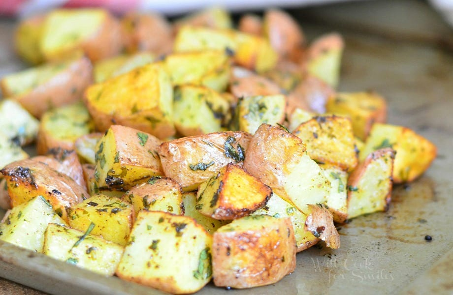 Cilantro Lime Roasted Potatoes 2 from willcookforsmiles.com