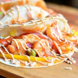 Louisiana Creole Shrimp Tacos