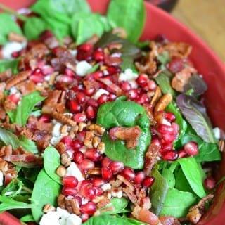 Pomegranate Goat Cheese Salad with Homemade Pomegranate Vinaigrette   Progressive Dinner