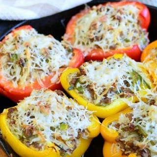 Sausage & Onion Stuffed Peppers