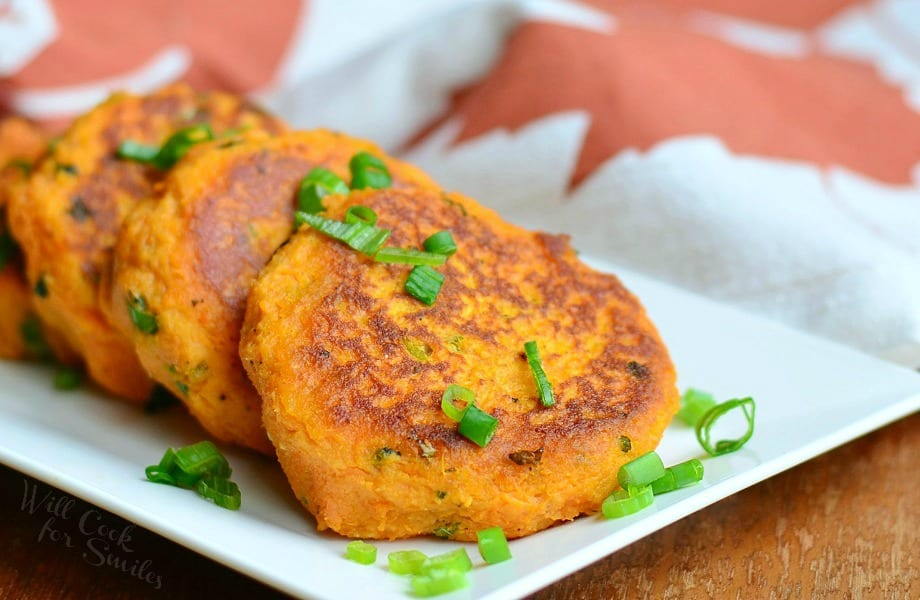 Sweet Potato Cakes from willcookforsmiles.com