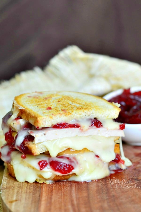 Turkey Cranberry Brie Grilled Cheese 3 from willcookforsmiles.com