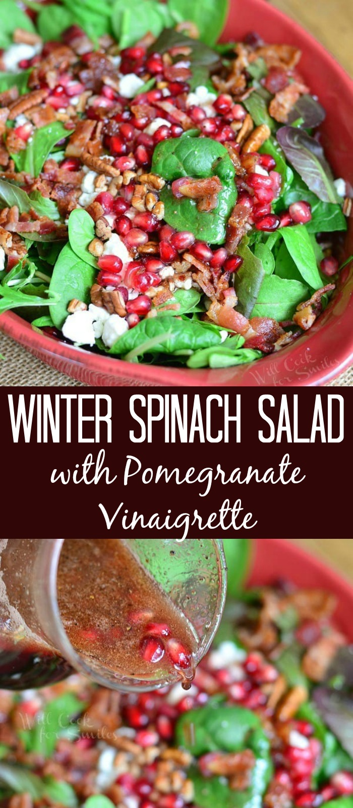 spinach salad collage