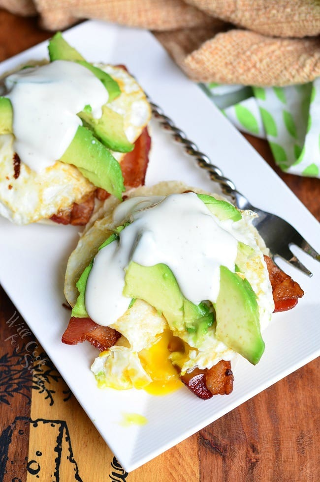 Avocado Bacon Ranch Breakfast Sandwich 2 from willcookforsmiles.com