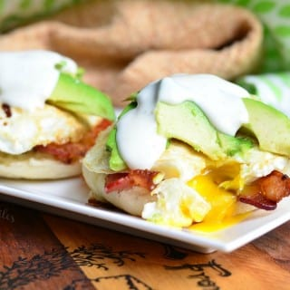 Avocado Bacon Ranch Breakfast Sandwich