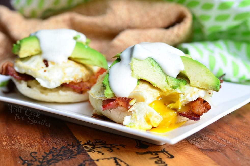 Avocado Bacon Ranch Breakfast Sandwich 3 from willcookforsmiles.com