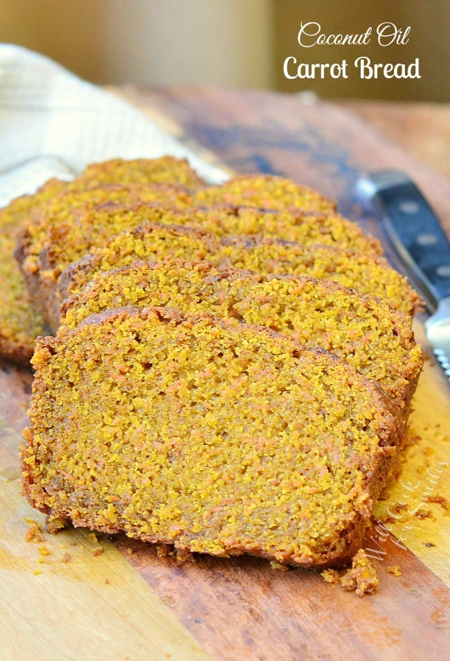 ... Carrot Bread is made virgin coconut oil , coconut sugar and sprinkled
