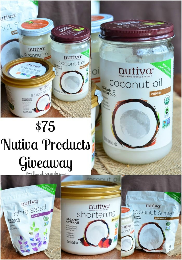 Nutiva Products Giveaway, Winner's choice, worth $75