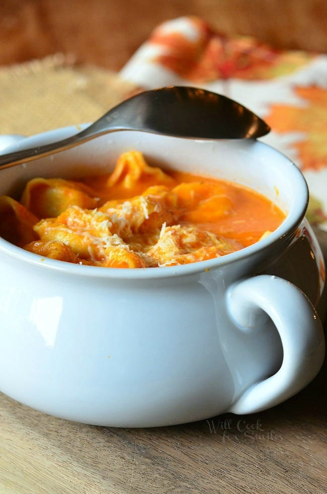 Roasted Bell Pepper Tortellini Soup 1 from willcookforsmiles.com