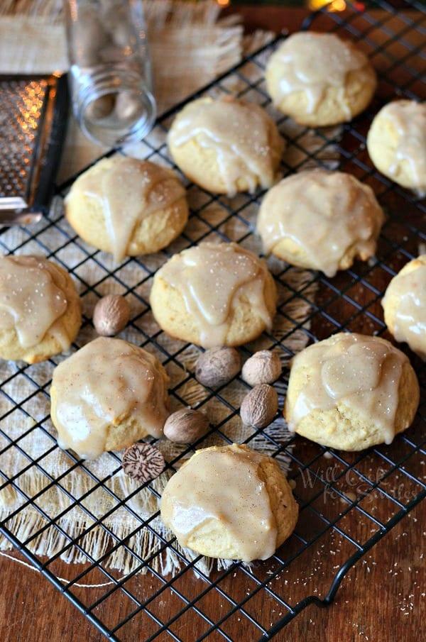 Spiced  Eggnog  Cookies with Eggnog  Glaze  1 from willcookforsmiles.com