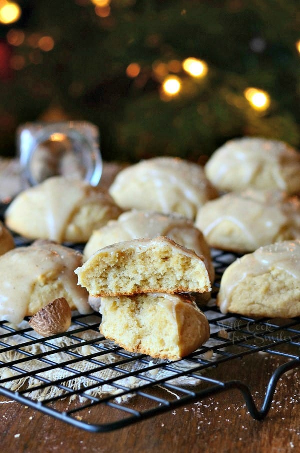 Spiced Eggnog Cookies with Eggnog Glaze - Will Cook For Smiles