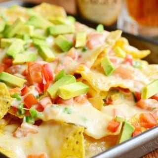 Amazing Nachos with Veggies and Homemade Nacho Ale Cheese Sauce 4 from willcookforsmiles.com