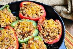 Chicken-Fajita-Stuffed-Peppers-1-from-willcookforsmiles.com-stuffedpeppers-chicken-chickenrecipe