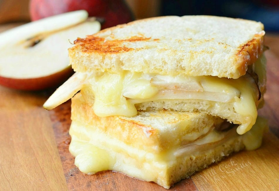 Dijon Havarti & Pear Grilled Cheese 3 from willcookforsmiles.com
