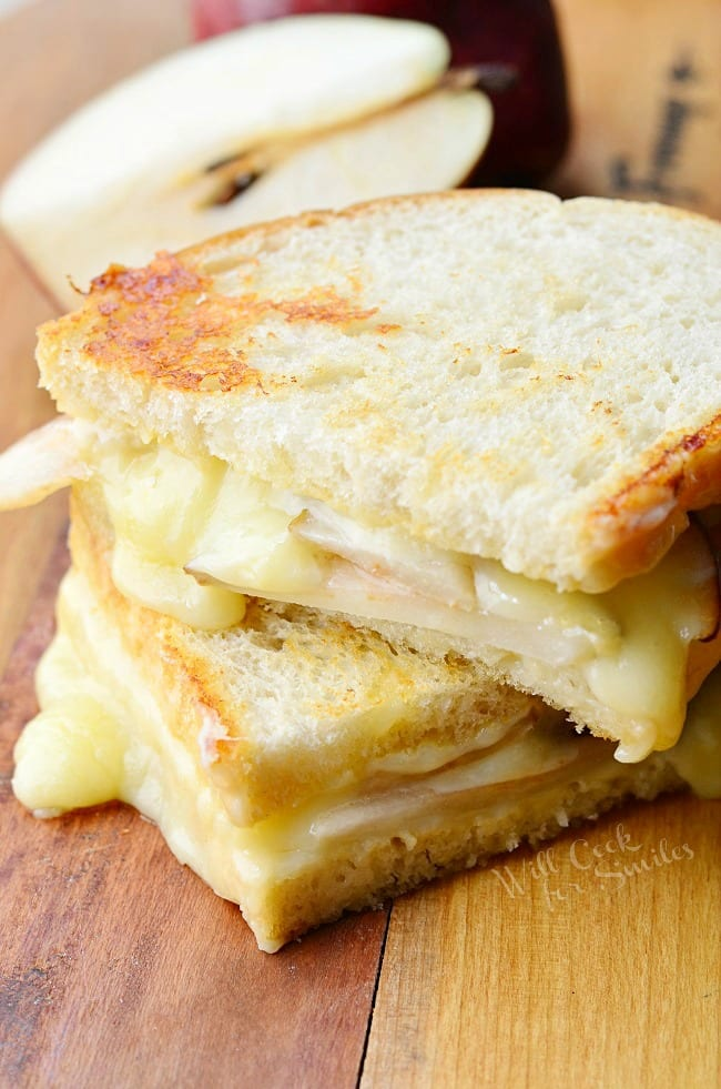 Dijon Havarti & Pear Grilled Cheese from willcookforsmiles.com
