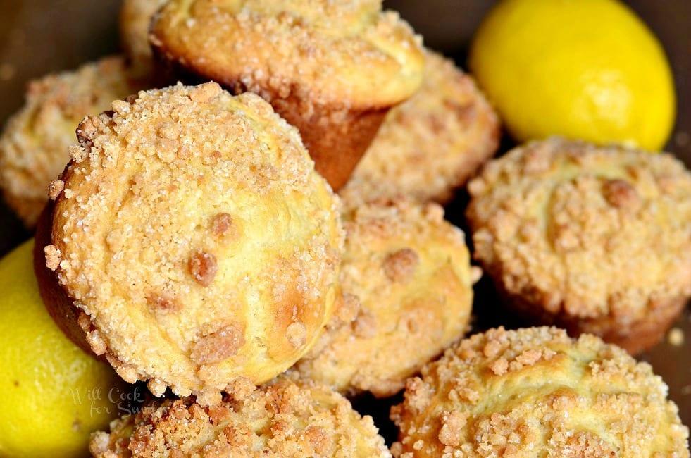 Lemon Streusel Muffins 4 from willcookforsmiles.com