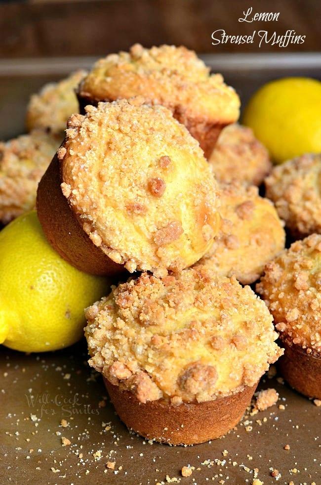 Lemon Streusel Muffins 5 from willcookforsmiles.com