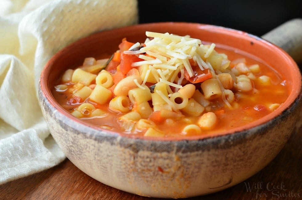 Pasta E Fagioli Soup (Italian Pasta And Bean Soup) Recipe — Dishmaps