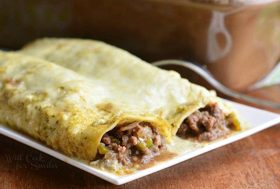 Beef Enchiladas Verde 3 from willcookforsmiles.com