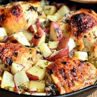 {One-Pot} Balsamic Chicken Thighs & Potatoes