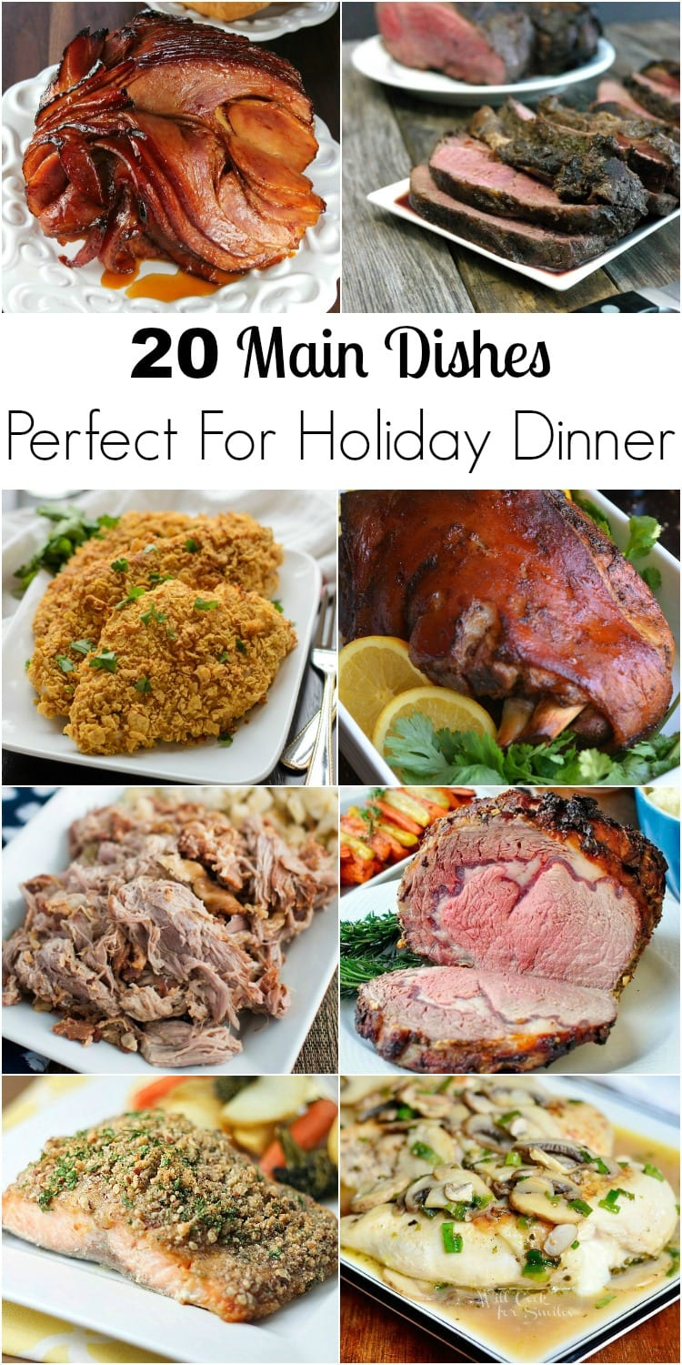 20 Main Dishes Perfect For Holiday Dinner collage