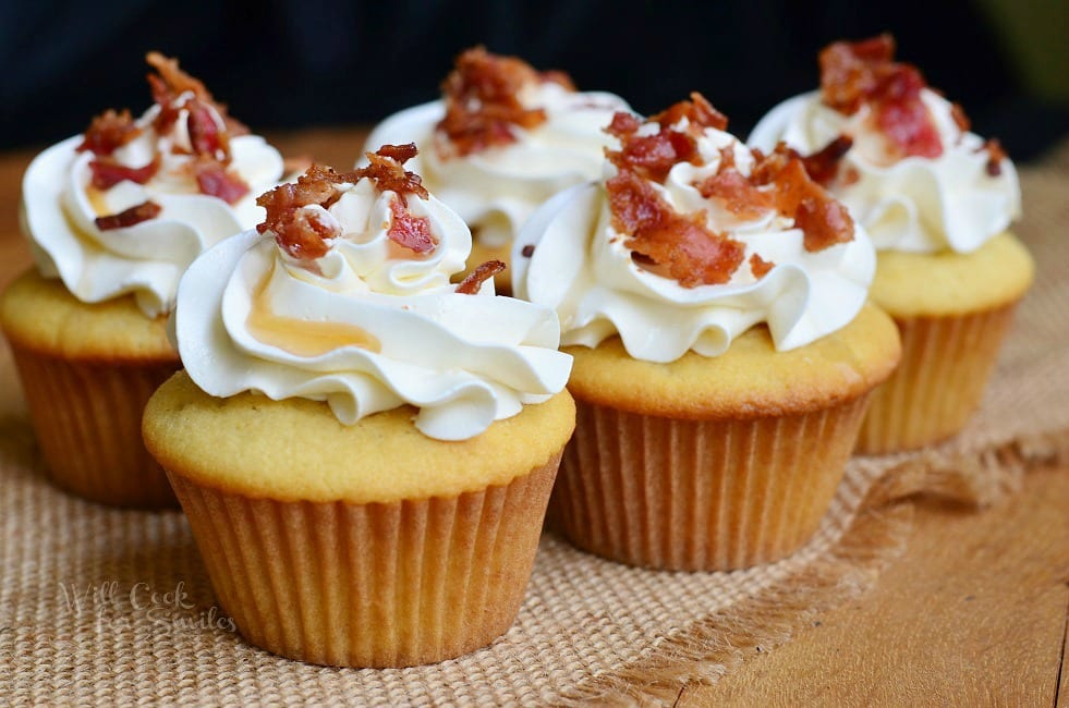 Maple Bacon Cupcakes 4 from willcookforsmiles.com