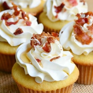 Maple Bacon Cupcakes from willcookforsmiles.com