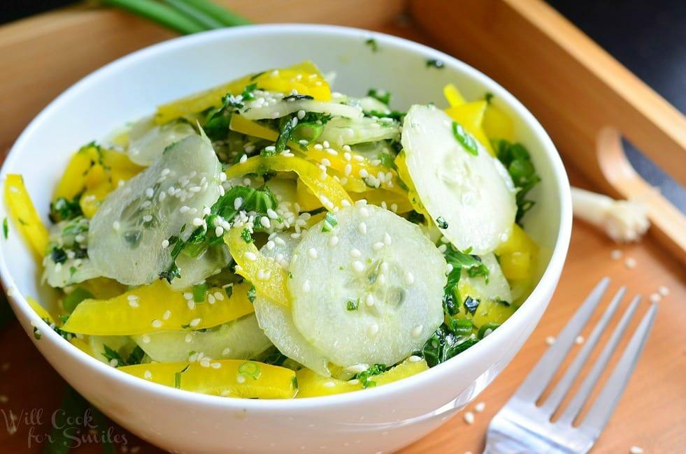Sesame Cucumber Salad Recipe — Dishmaps