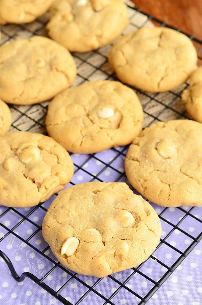 Sweet and Salty White Chocolate Chip Peanut Butter Cookies from willcookforsmiles.com