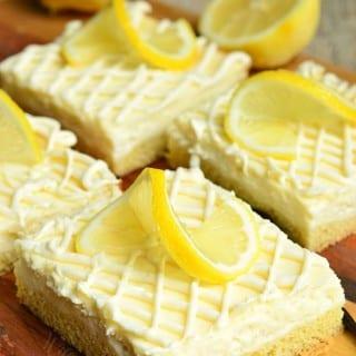 Vanilla Bean Lemon Cheesecake Bars 1 from willcookforsmiles.com