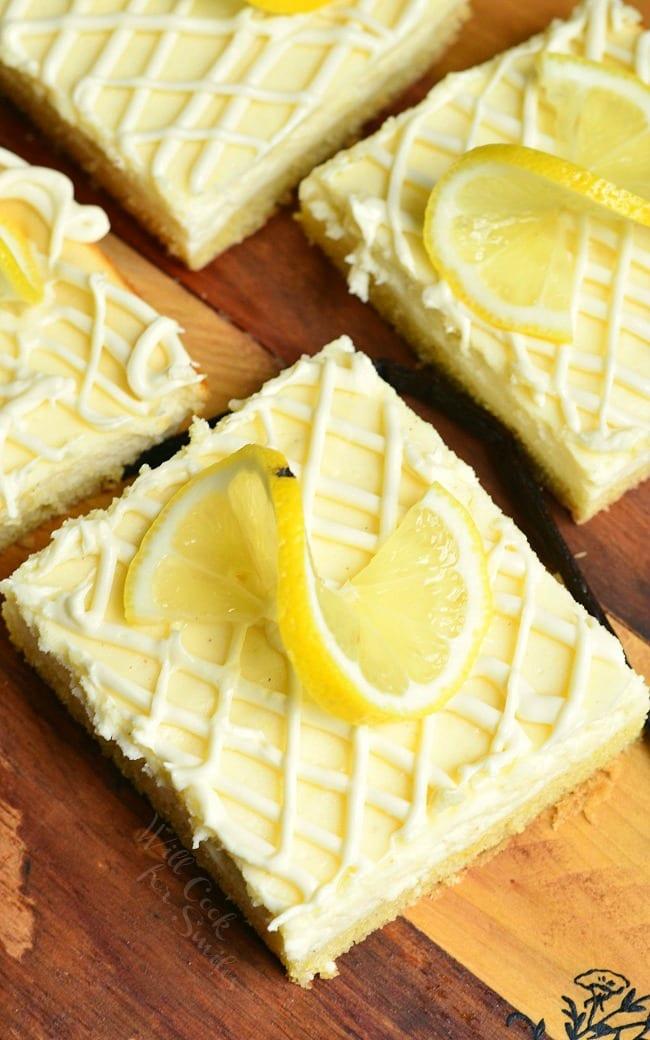 Vanilla Bean Lemon Cheesecake Bars 2 from willcookforsmiles.com